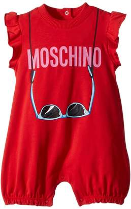 Moschino Kids Logo Sunglasses Graphic Romper Girl's Jumpsuit & Rompers One Piece
