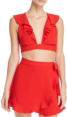 Show Me Your Mumu Florence Ruffled Crop Top