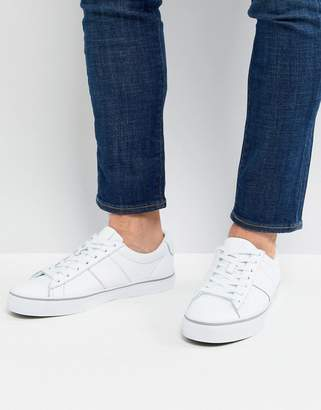 Polo Ralph Lauren Sayer Leather Trainers In White