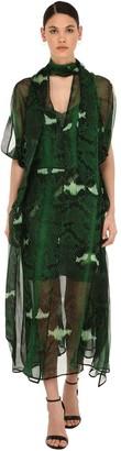 Petar Petrov Snake Print Silk Mousseline Dress