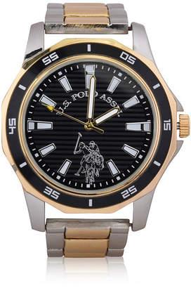 U.S. Polo Assn. Mens Two Tone Bracelet Watch-Usc80474jc