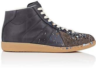 "Maison Margiela Men's ""Replica"" Leather & Suede Sneakers"