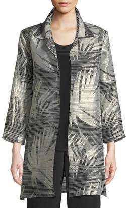 Caroline Rose Shimmering Palms Shirt Jacket, Petite