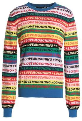 Love Moschino Cotton-Blend Jacquard Sweater