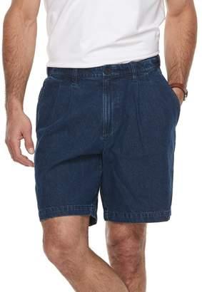 Croft & Barrow Big & Tall Relaxed-Fit Side-Elastic Denim Pleated Cargo Shorts
