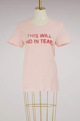 "Zoe Karssen Loose-fitting ""This will end in tears"" T-Shirt"