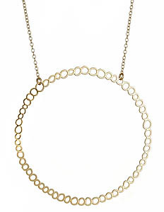Kris Nations Large Circle Hoop Gold Necklace