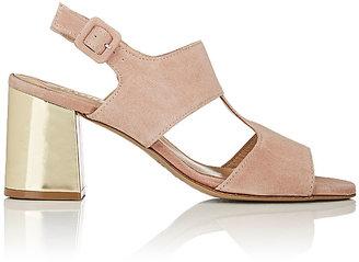 Barneys New York Women's Block-Heel Suede Slingback Sandals $295 thestylecure.com