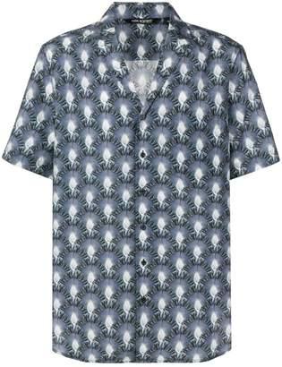 Neil Barrett abstract palm print shirt