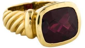 David Yurman 18K Garnet Noblesse Ring