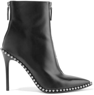 Alexander Wang - Eri Studded Leather Ankle Boots - Black