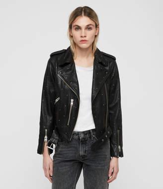 AllSaints Studded Balfern Leather Biker Jacket
