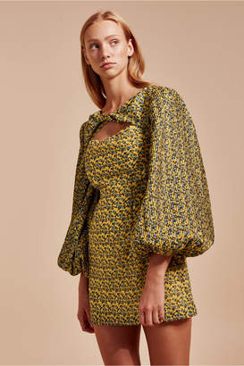 C/Meo Collective COME ACROSS LONG SLEEVE DRESS yellow floral