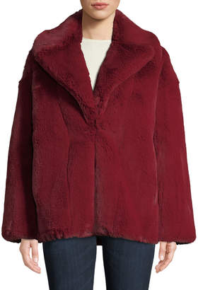 Diane von Furstenberg Collared Faux-Fur Jacket