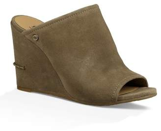 UGG Lively Suede Wedge Slide Sandal