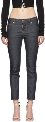 DSQUARED2 Blue Dark Wash Cool Girl Jeans