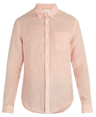 Onia Jay Linen Blend Shirt - Mens - Sky White