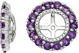 FINE JEWELRY Diamond Accent and Heat-Treated Purple Amethyst Earring Jackets