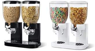 Generic Double Chamber Dry Food Cereal Dispenser Airtight gadget Kitchen Storage Twin Container