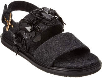 Marni Heavy Felt Fussbett Sandal