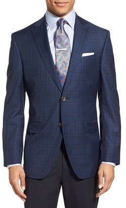 Men's David Donahue 'Connor' Classic Fit Plaid Wool Sport Coat $595 thestylecure.com