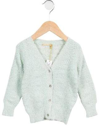 Gold Belgium Girls' Colette Textured Cardigan w/ Tags