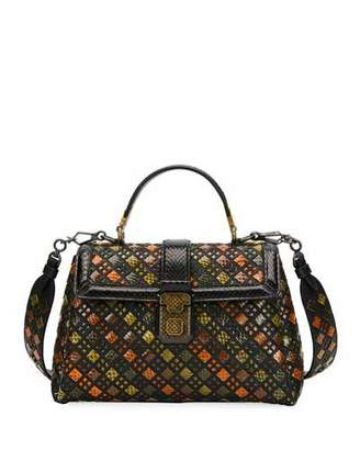 Bottega Veneta Piazzo Small Stained Glass Napa/Ayers Top-Handle Satchel Bag