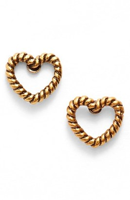 Women's Marc Jacobs Rope Heart Stud Earrings $45 thestylecure.com