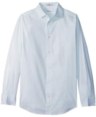 Calvin Klein Kids Check Print Long Sleeve Shirt Boy's Clothing