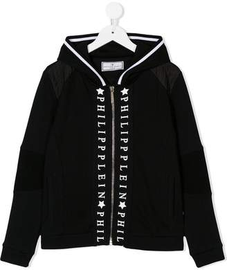 Philipp Plein Junior hooded zipped jacket