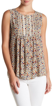 Pleione Sleeveless Front Lace Pleat Blouse $54 thestylecure.com