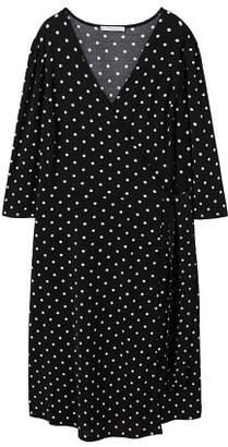 Violeta BY MANGO Wrap polka-dot dress