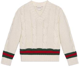 Gucci Children's cotton sweater with Web