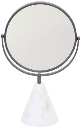 Table Mirror With Carrara Marble Base