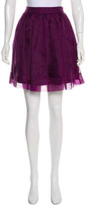 Elizabeth and James Silk Mini Skirt