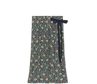a928c70650 Tory Burch Pleated Silk Wrap Skirt