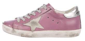 Golden Goose Distressed Leather Sneakers
