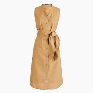 J.Crew Petite sleeveless shirtdress in cotton poplin