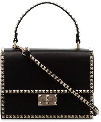 Valentino black Rockstud No Limit Leather Bag