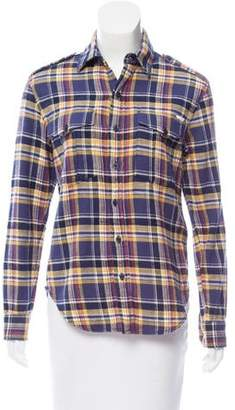 Mother Plaid Button-Up Top w/ Tags