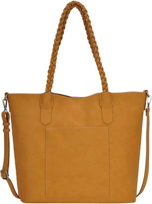 Antik Kraft Braided Handle Faux Leather Tote