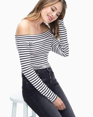 Splendid 1X1 Venice Stripe Off Shoulder Bodysuit
