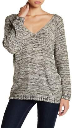 Susina Deep V-Neck Strap Back Sweater