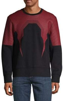 Bolt Mesh-Panel Sweatshirt