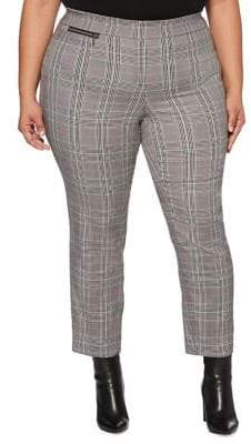 Rafaella Plus Skinny-Leg Plaid Pants
