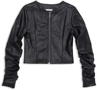 Habitual Girls' Emma Faux Leather Jacket - Big Kid