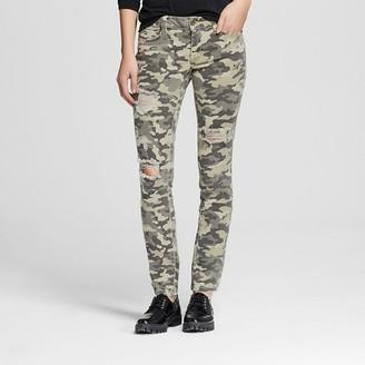 Dollhouse Women's Mid Rise Camo Skinny Jeans-Dollhouse (Juniors') $34.99 thestylecure.com