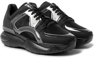Fendi Mesh, Leather, Pvc And Rubber Sneakers