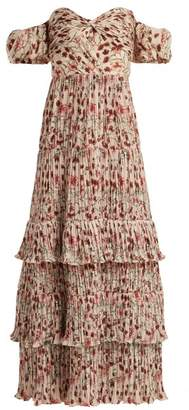 Johanna Ortiz The Lady Of Shallot Floral Print Dress - Womens - Cream Multi