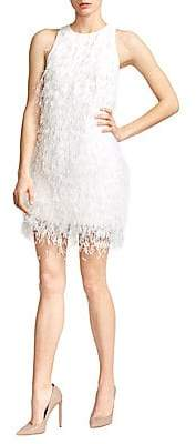 Ralph and Russo Women's Feather Silk Crepe Cady Mini Dress